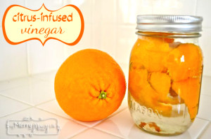Homemade Citrus-Infused Vinegar for Green Cleaning