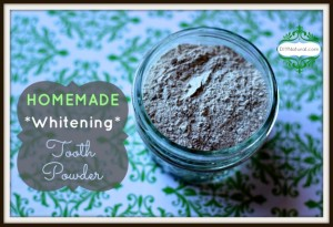 DIY Whitening Tooth Powder for Non-toxic Brushing