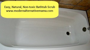 Easy Natural Bathtub Scrub with Essential Oils