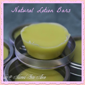 Natural Lotion Bars with Essential Oils