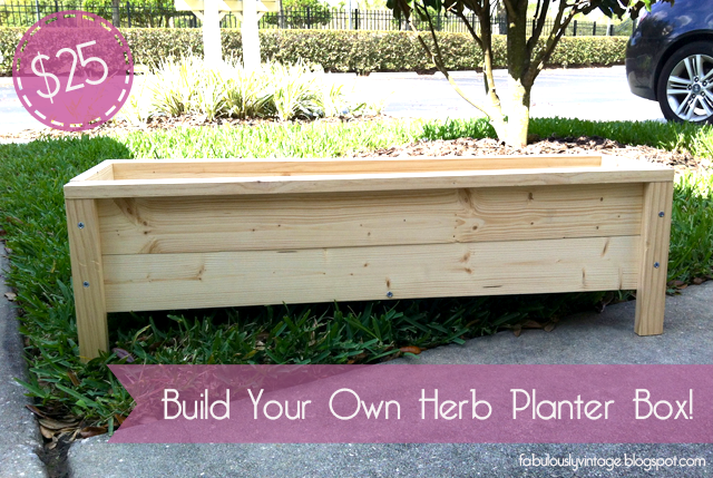 Diy Herb Planter Box