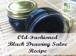 Old-Fashioned Homemade Amish Black Drawing Salve