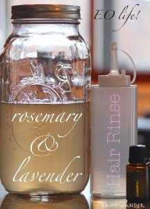 Homemade Rosemary, Lavender & Apple Cider Vinegar Hair Rinse