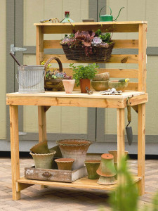 Make Your Own Garden Potting Bench