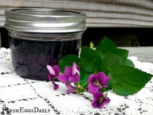 How to Make Homemade Violet Soda