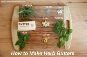 How to Make Herb Butters