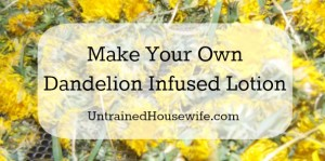 Make Your Own Dandelion Infused Lotion