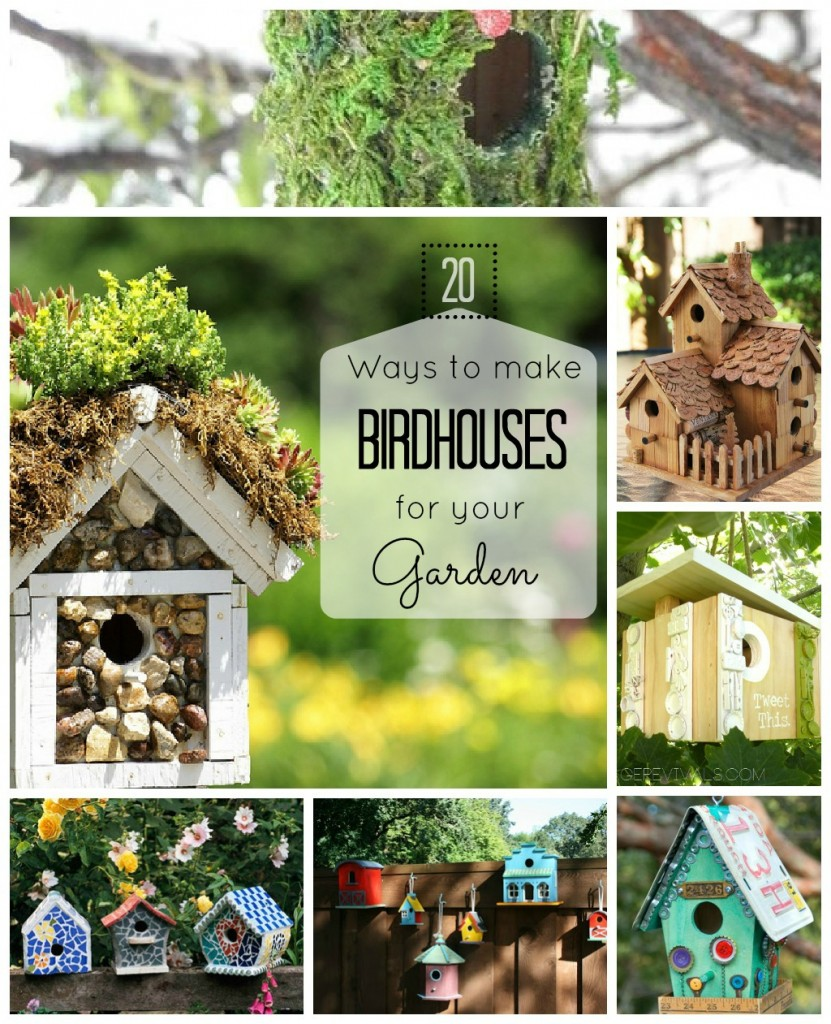 20 ideas for homemade garden birdhouses herbs and oils hub for How to make homemade bird houses