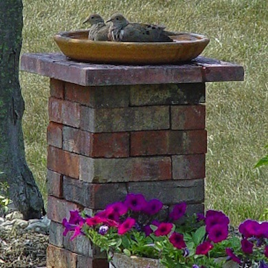 12 Approaches to a DIY Bird Bath