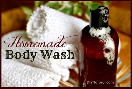 How To Make a Homemade Natural Moisturizing Body Wash