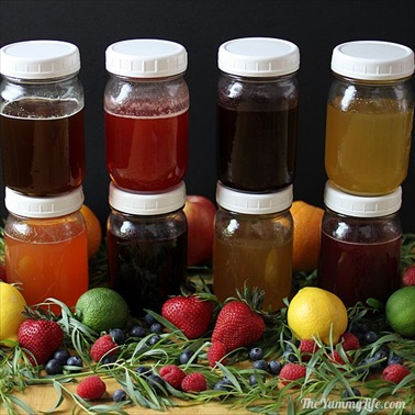 8 Natural, No-Cook  Fruit & Herb Honey Syrups