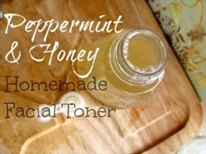 Homemade Peppermint And Honey Facial Toner