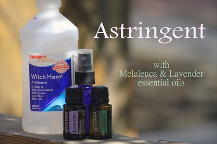 Make Your Own Astringent, Toner & Makeup Finisher