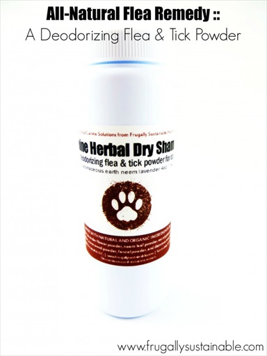 Canine Herbal Dry Shampoo :: A Deodorizing Flea & Tick Powder