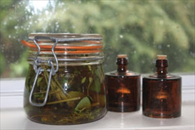 Homemade Sage & Thyme Cough Syrup with Honey and Brandy