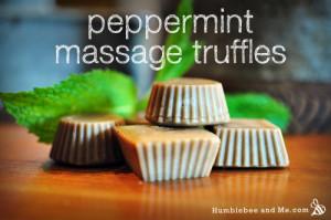 Homemade Peppermint Massage Truffles Recipe