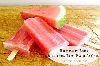 Homemade Summertime Watermelon Popscicles