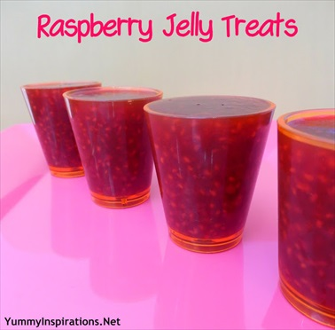 Raspberry Jelly Treats aka Fresh Berry Jell-O