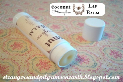 Homemade Coconut Honeybee Lip Balm Recipe