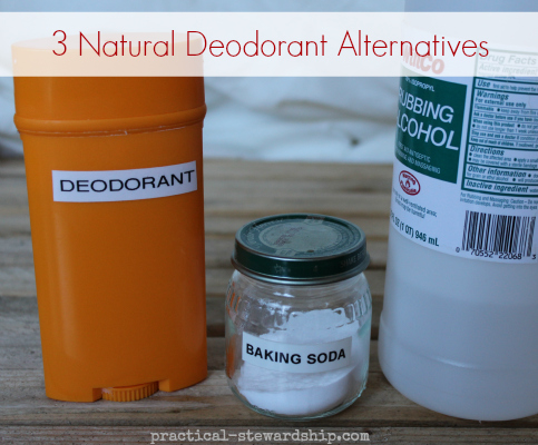 3 Natural Deodorants Recipes
