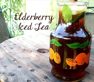 Homemade Elderberry Iced Tea Recipe