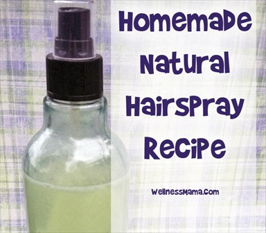 Homemade Natural Hair Spray Recipe