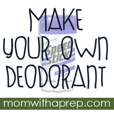 How to Make Your Own Deodorant