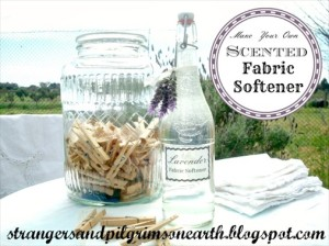 Make Your Own  Scented  Fabric Softener ~ All Natural