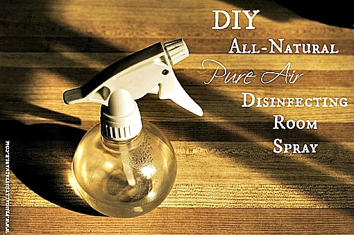 Pure Air: Homemade Antibacterial Disinfecting Room Spray Recipe