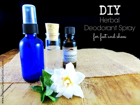 A DIY Herbal Deodorant Spray For Stinky Feet and Shoes