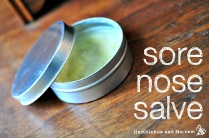How to Make a Calendula & Shea Nose Salve
