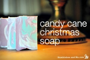 How to Make Homemade Candy Cane Christmas Soap