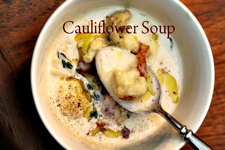 Homemade Cauliflower Soup Recipe