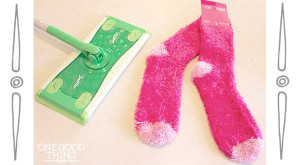 "Make Your Own Reusable ""Swiffer"" Pads and Cleaning Solution"