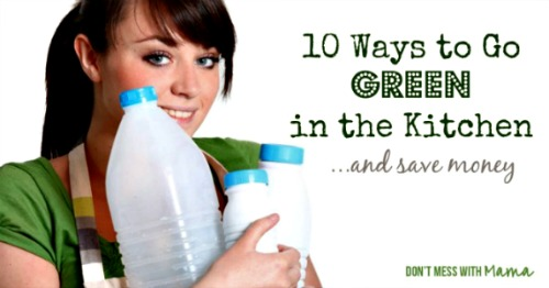 10 Ways to Go Green in the Kitchen and Save Money