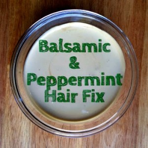 Homemade Balsamic & Peppermint Hair Treatment