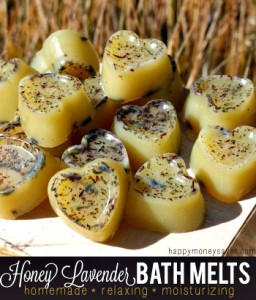Homemade Honey Lavender Stress Relief Bath Melts Recipe