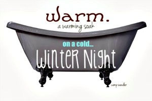 How to Make a Muscle Warming Bath Soak for Aching Cold Nights