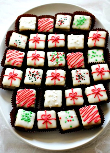 Homemade Peppermint Bark Petit Fours  Recipe