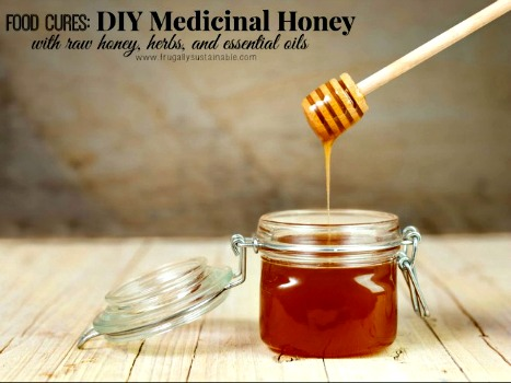 Amazing Medicinal Honey ~ with Raw Honey, Herbs, and Essential Oils