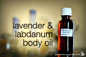 Homemade Lavender & Labdanum Body Oil