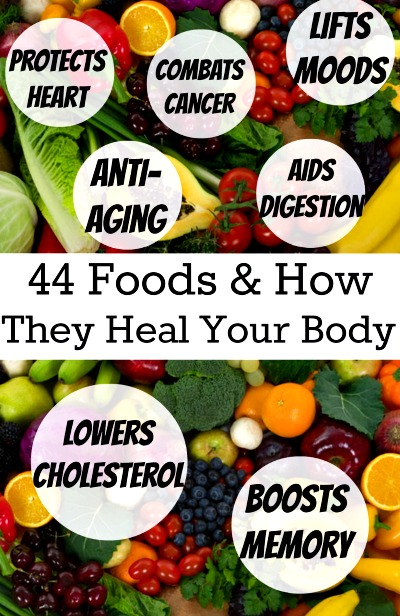 44 Amazing Foods & How They Heal Your Body