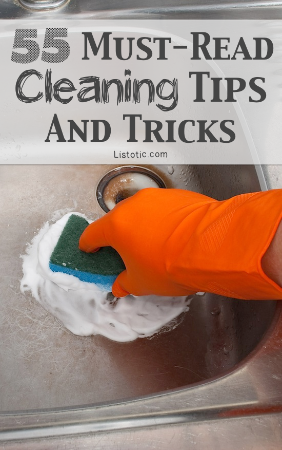 55 Must-Read Cleaning Tips & Trick