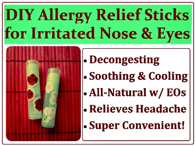 How to Make All-Natural DIY Allergy Relief Sticks