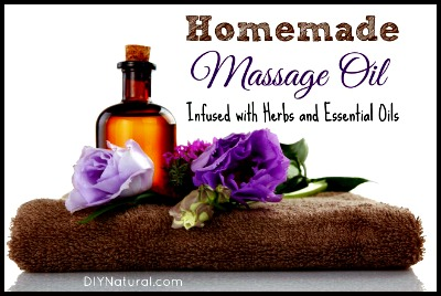 Homemade Herb-Infused Massage Oil