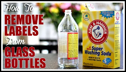 how to remove glass labels, best label removal tip