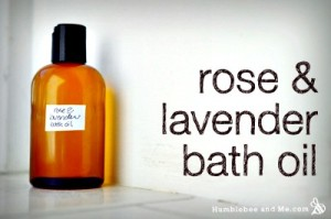 Homemade Rose and Lavender Bath Oil Recipe