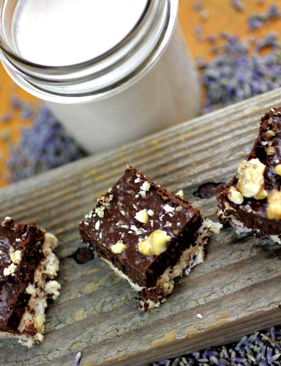lavender walnut mlk, best lavender brownies