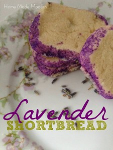 Lavender Vanilla Shortbread Cookie Recipe