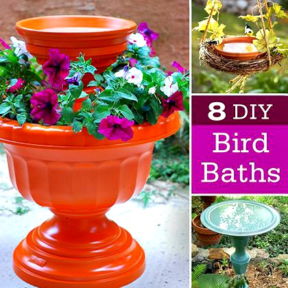 8 Fantastic DIY Bird Baths for your Garden